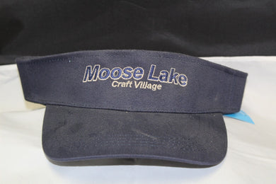 Moose Lake Village  Embroidered Visor - Blue