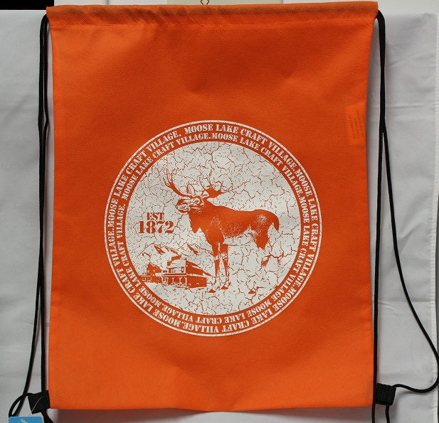 Moose Lake Village Cinch Bag - Orange