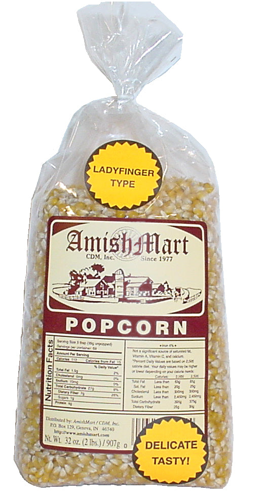 6 lb. Yellow Lady Finger Popcorn (Hulless)