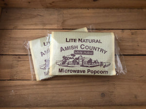 Amish Country Microwave Popcorn - Natural Lite - Hulless