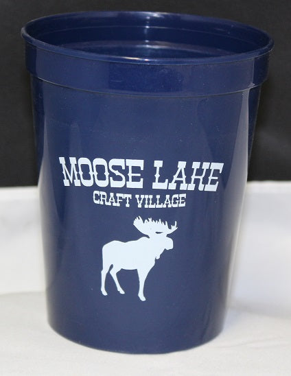 Moose Lake Craft Village 16 oz. Plastic Tumbler - Navy Blue
