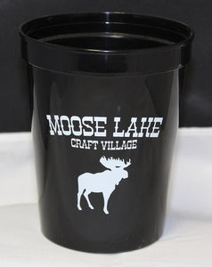 Moose Lake Craft Village 16 oz. Plastic Tumbler - Black
