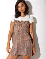 Motel Famala Dress in Country Check