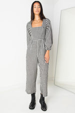 Lucia Jumpsuit in Plaid Check