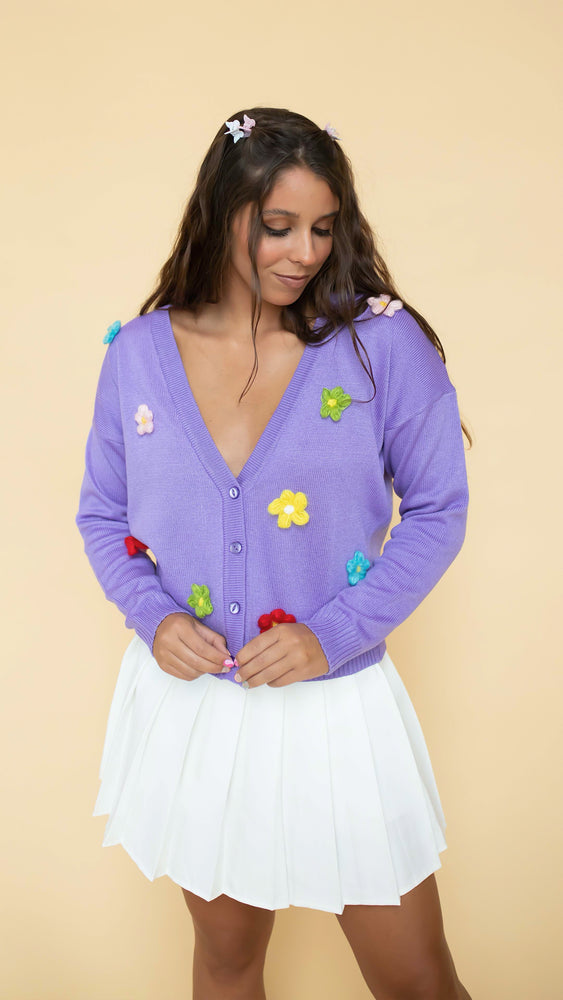 Emma Daisy Embroidered Cardigan