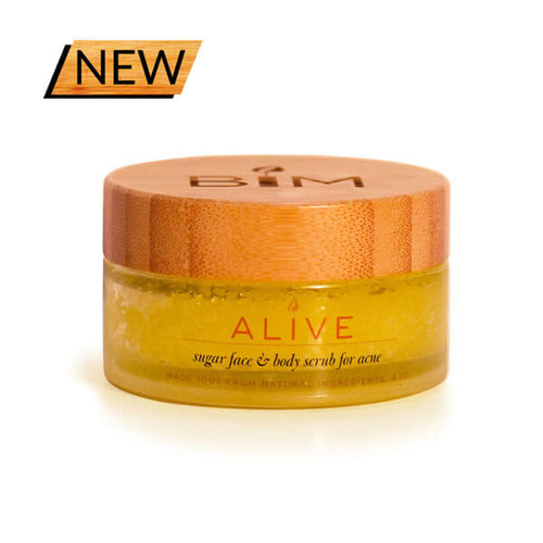 ALIVE - Sugar Body Scrub for Acne ormulated with sugar, clarifying essential oils, and natural ingredients that control sebum levels