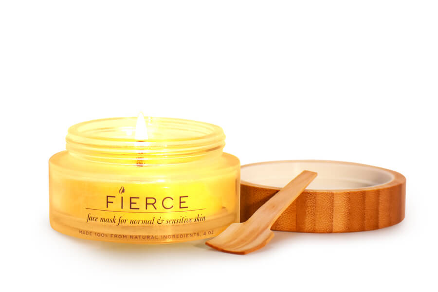 fierce candle face mask for natural and sensitive skin natural ingredients