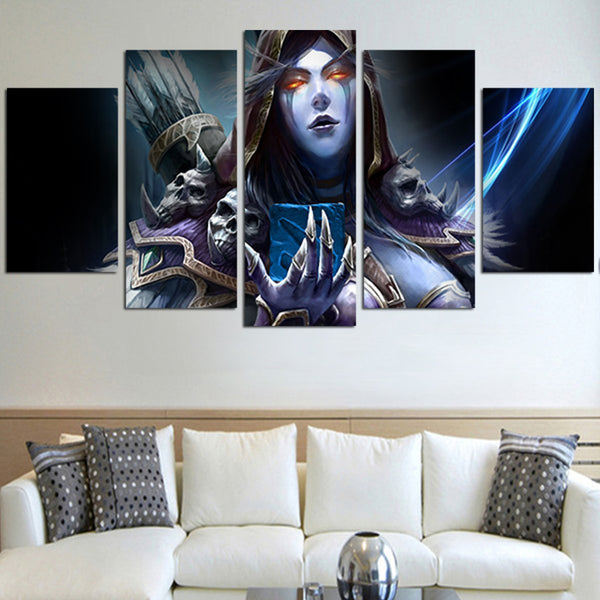 5 Panel The Women Of World Of Warcraft Wall Art Canvas – AIO Hacks
