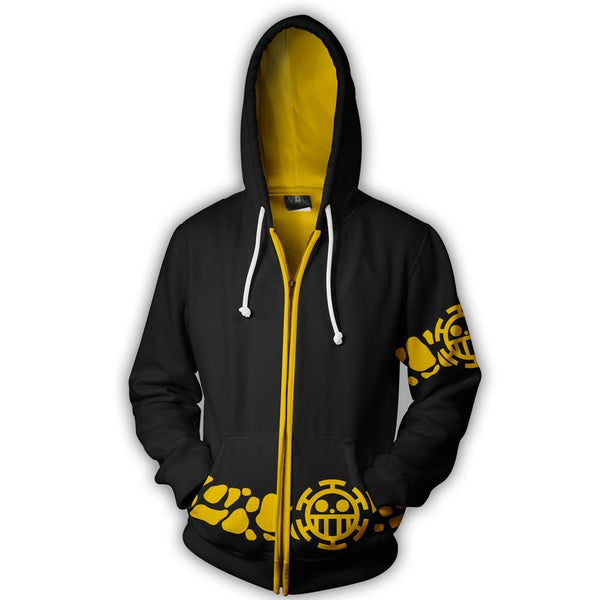 Trafalgar Law Coat Cosplay Zip Up Hoodie