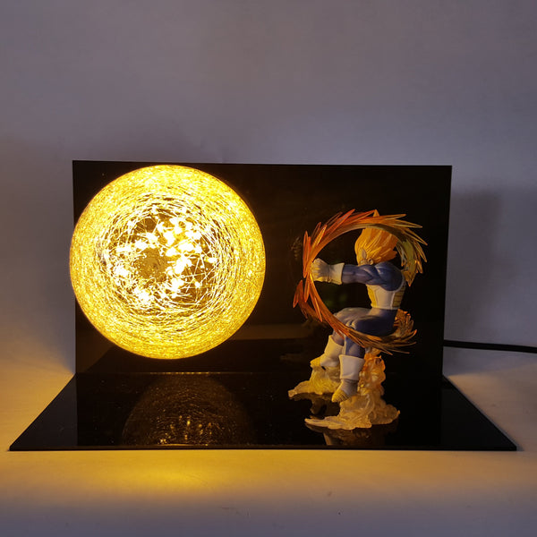 Vegeta Final Flash 3D Lamp