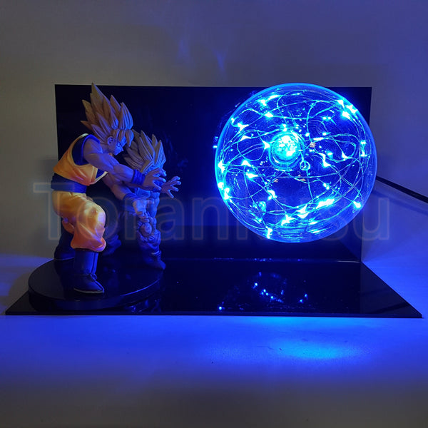 Father Son Goku Gohan Kamehameha Blue Lamp