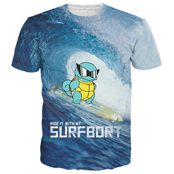 Squirtle 3D Printed Shirts