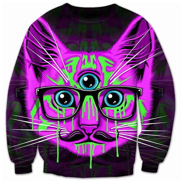 Cat 3 Eyes Printed Shirts