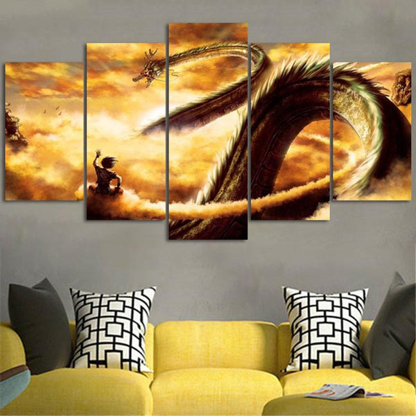 Dragon Ball Z Goku & Shenron Wall Art Canvas