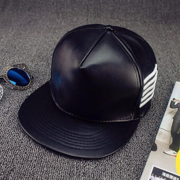 Balck Leather Hat