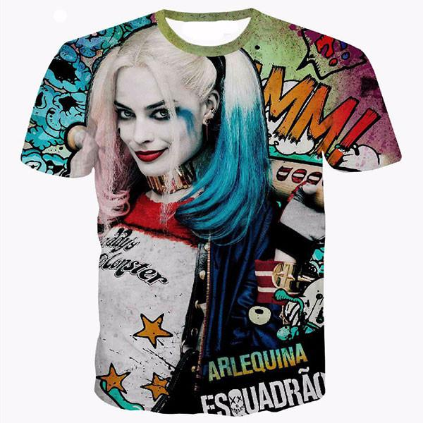 Harley Quinn Beautiful 3D Shirts