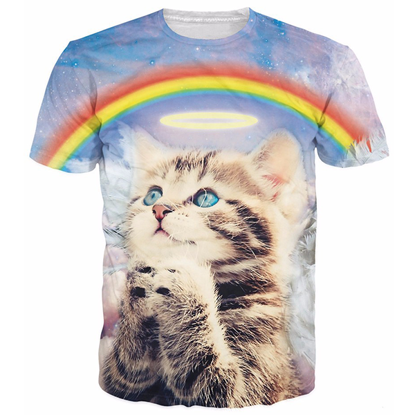 Cat Prays Under The Rainbow Shirts