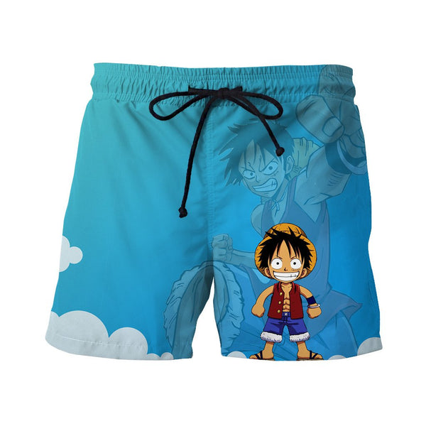 Luffy Chibi Printed Shorts
