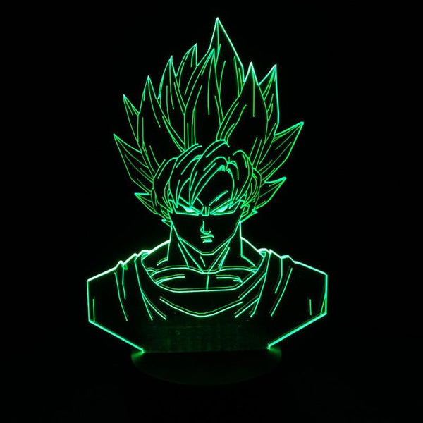 Goku 3D LED 7 Colors Lamp