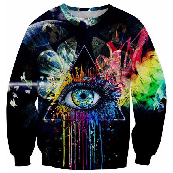 Rainbow Eye Of Providence Painting 3D Shirts