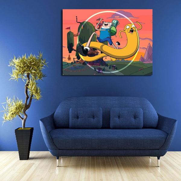 1 Panel Funny Finn And Jake Wall Art Canvas