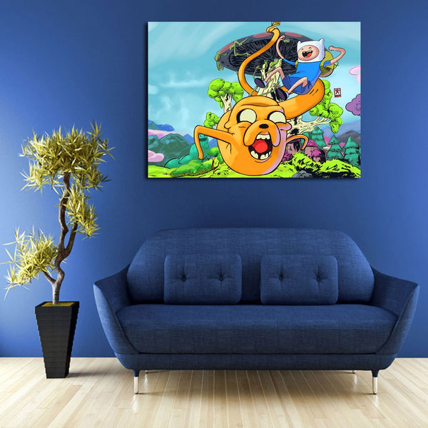 1 Panel Happy Finn And Jake Wall Art Canvas