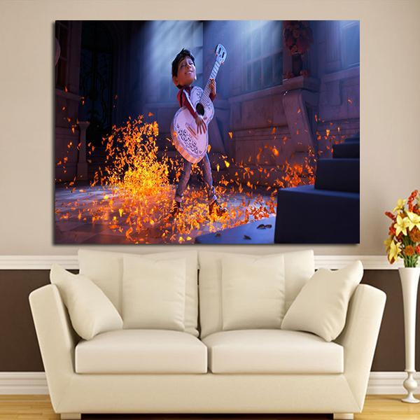 ... 1 Panel Coco Miguel And Guitar Wall Art Canvas