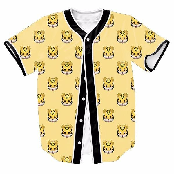 Yellow Emoji Tiger Cute New Shirts