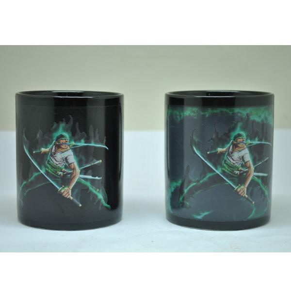 Heat Color Changing One Piece Zoro Mugs