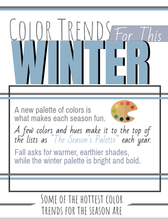 Color Trends For Winter