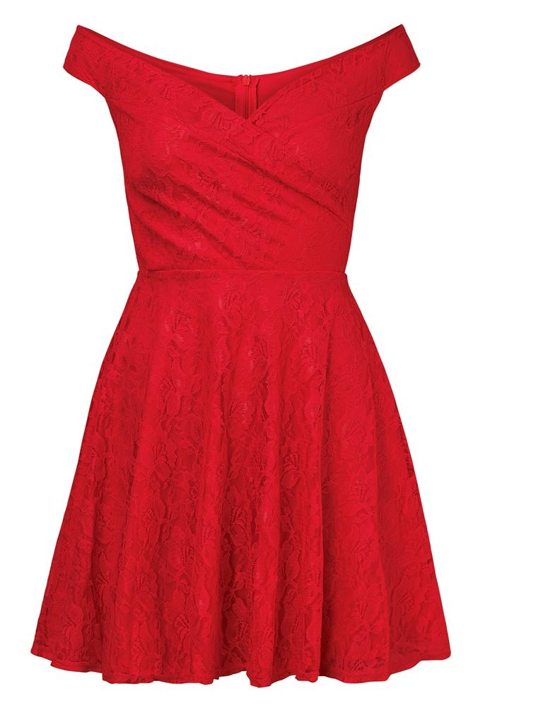 Martina Lace Bardot Prom Dress