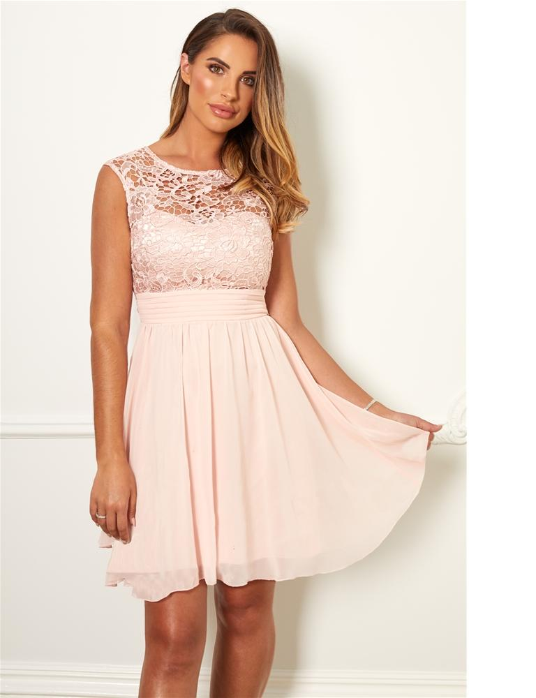 Orianna lace midi dress