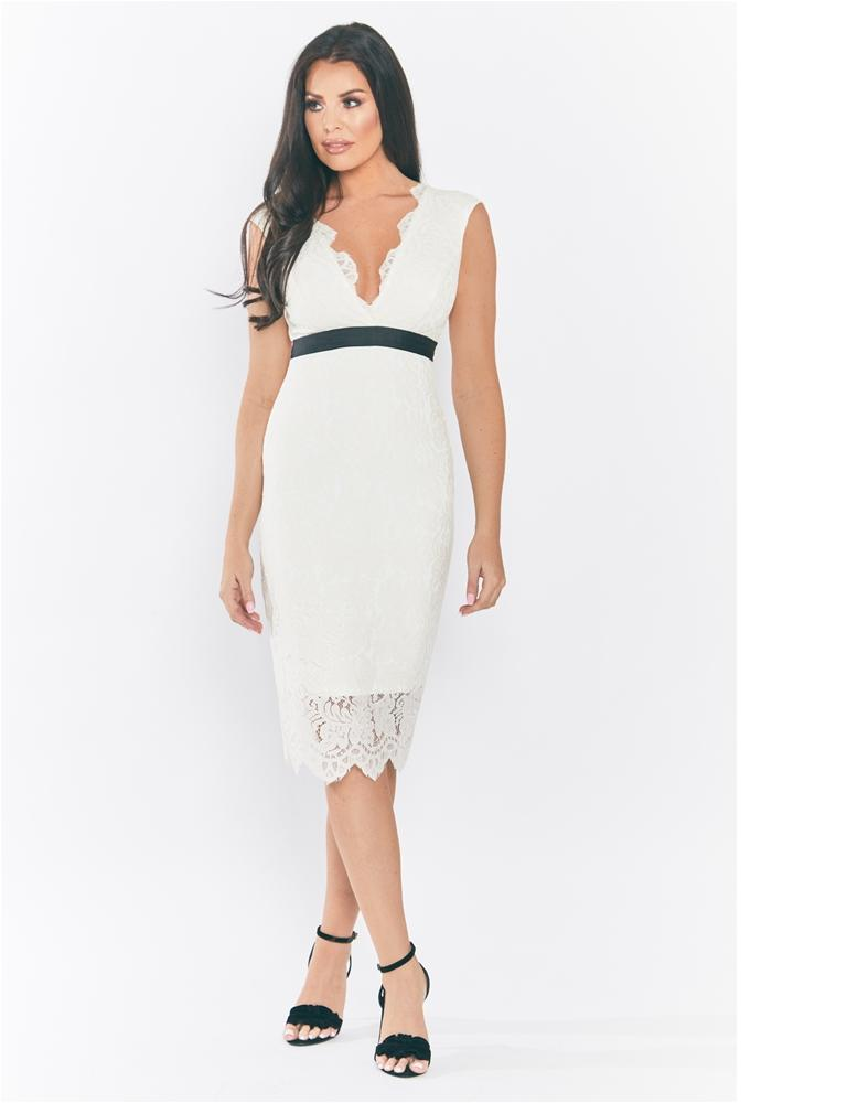 Aaliyah lace midi dress