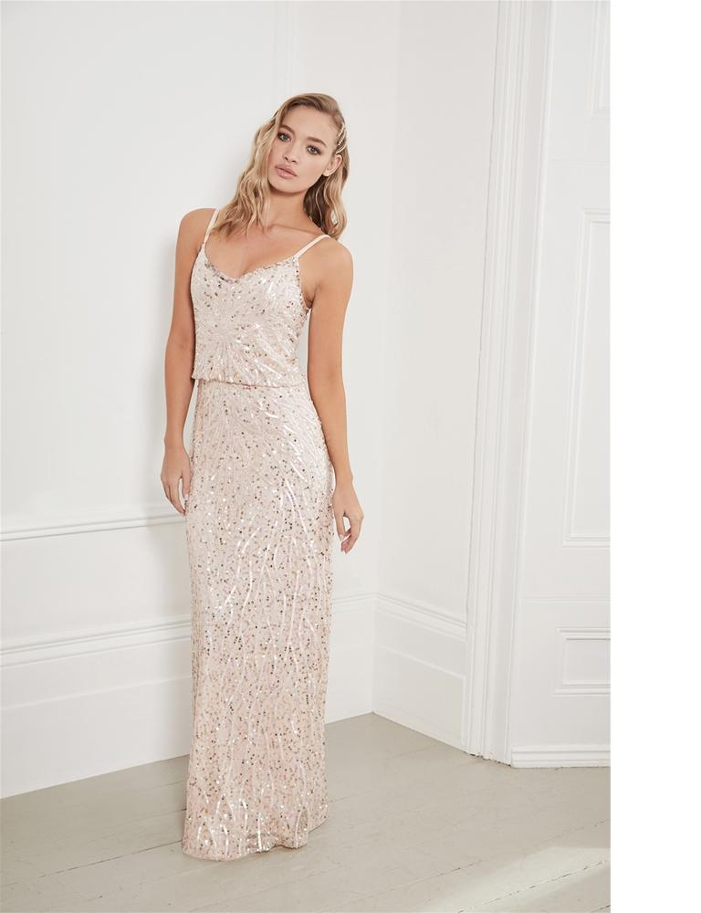 Miucha Blouson Beaded Maxi Dress Lipstick London