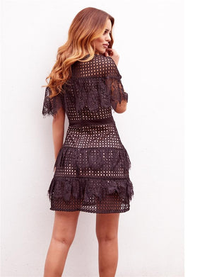 Leanna lace mini dress