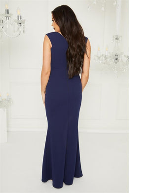 Kayleen Navy maxi dress