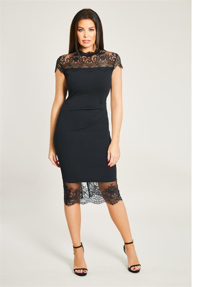 Madelyn Lace Trim Dress