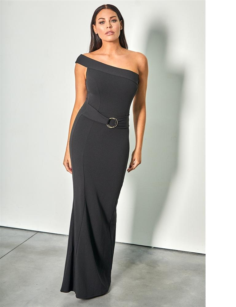 Reiny one shoulder maxi bodycon dress