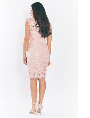 Breanna Lace Midi Dress