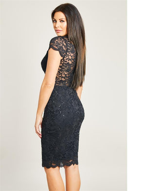 Kennia Lace Midi Dress
