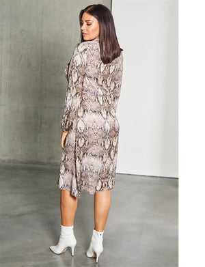 Pura wrap over midi dress