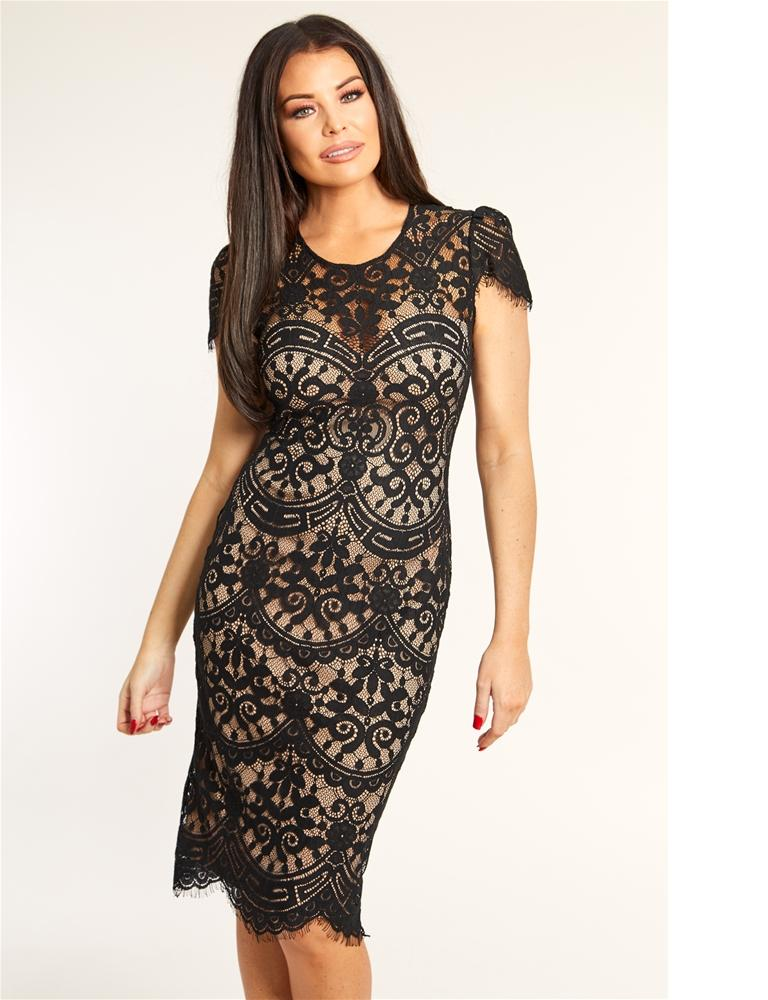Siya lace midi dress
