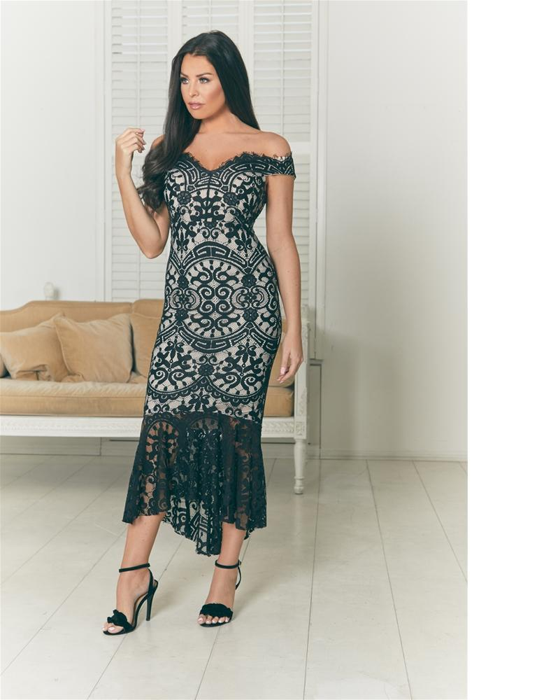 Cianna lace maxi dress
