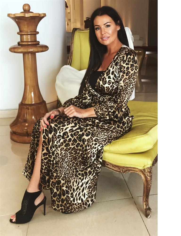 Kris animal print maxi dress