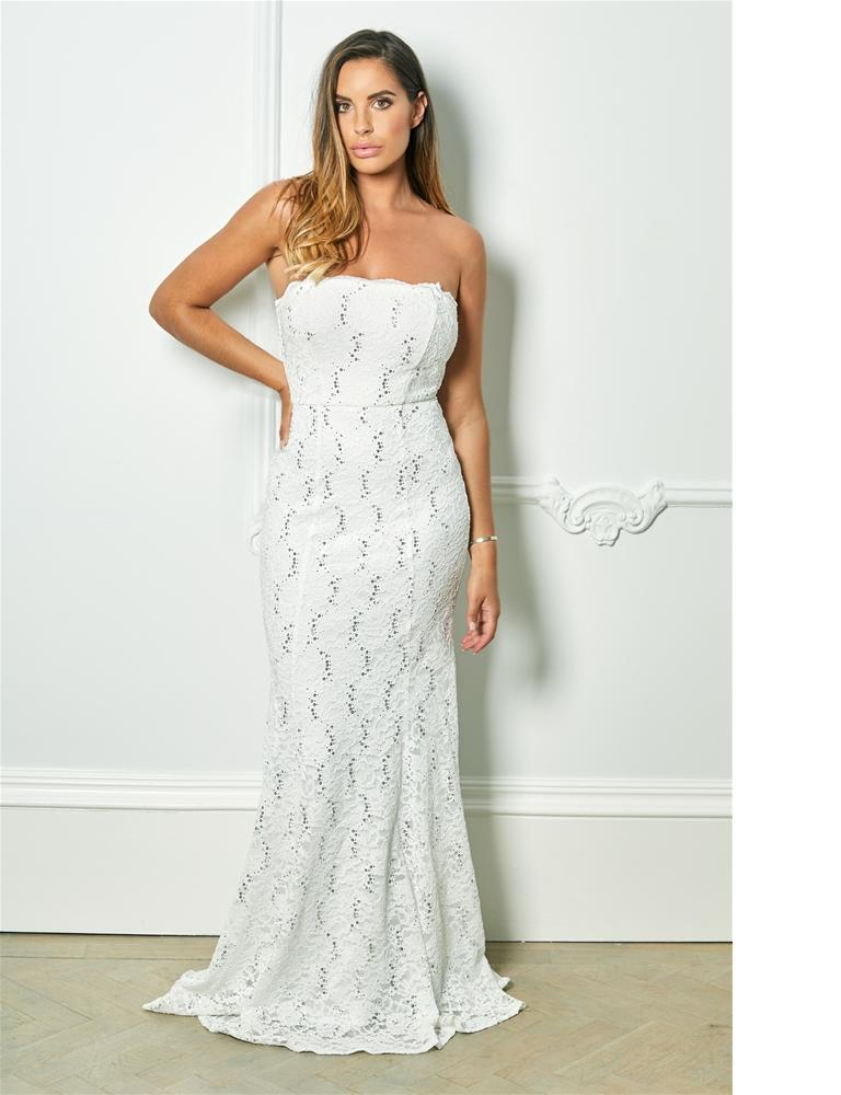 Olivieta sequin lace bridal fish tail