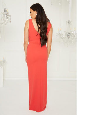 Kayleen Red maxi dress
