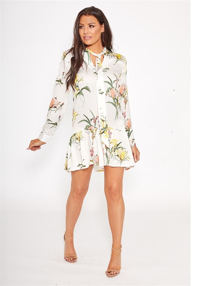 Claryce floral shirt dress