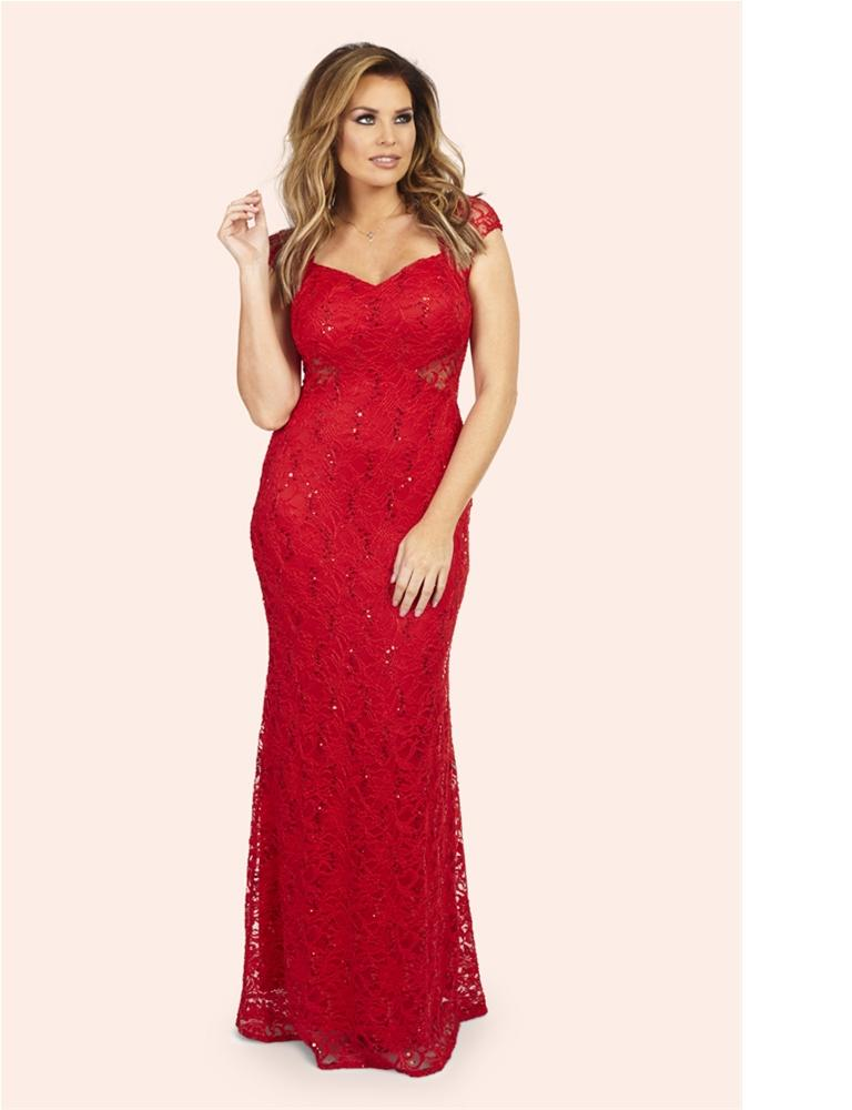 Rebecca Lace Maxi Dress