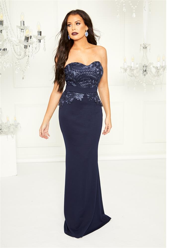 Bethanie bandeau maxi dress