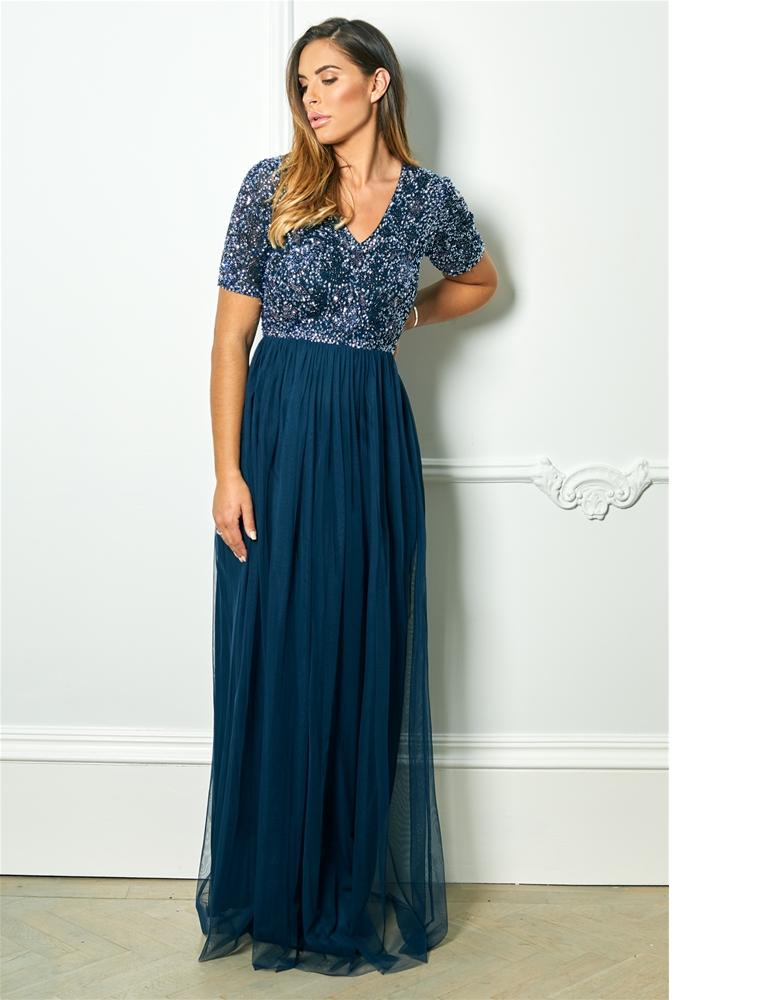 Liziane sequin maxi dress